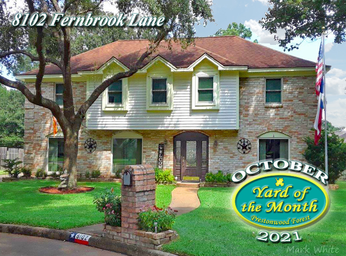 October 2021 Yard of the Month Winner