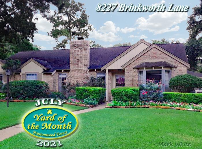 July 2021 Yard of the Month Winner
