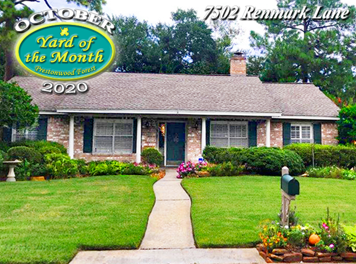 October 2020 Yard of the Month Winner