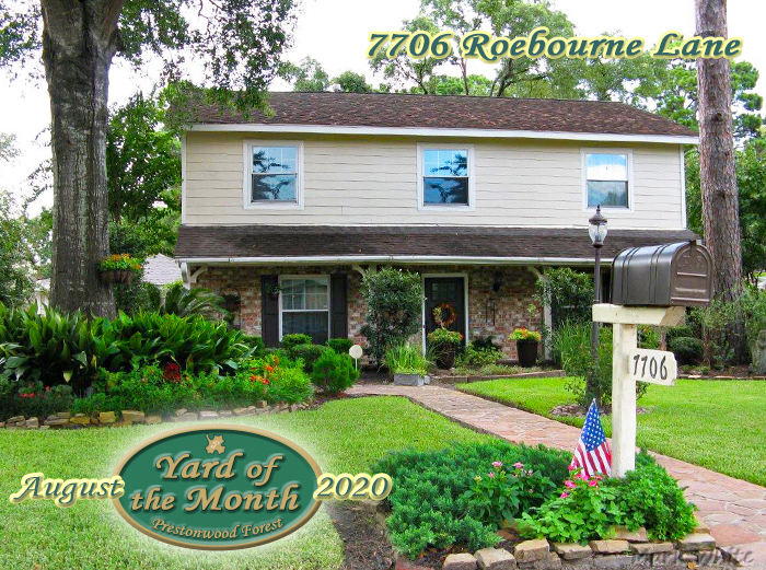 August 2020 Yard of the Month Winner