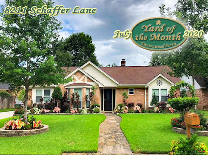 July 2020 Yard of the Month Winner