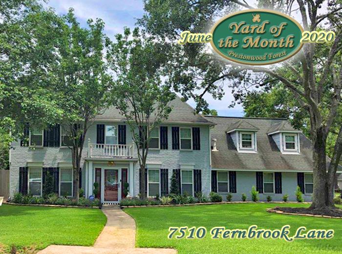 June 2020 Yard of the Month Winner