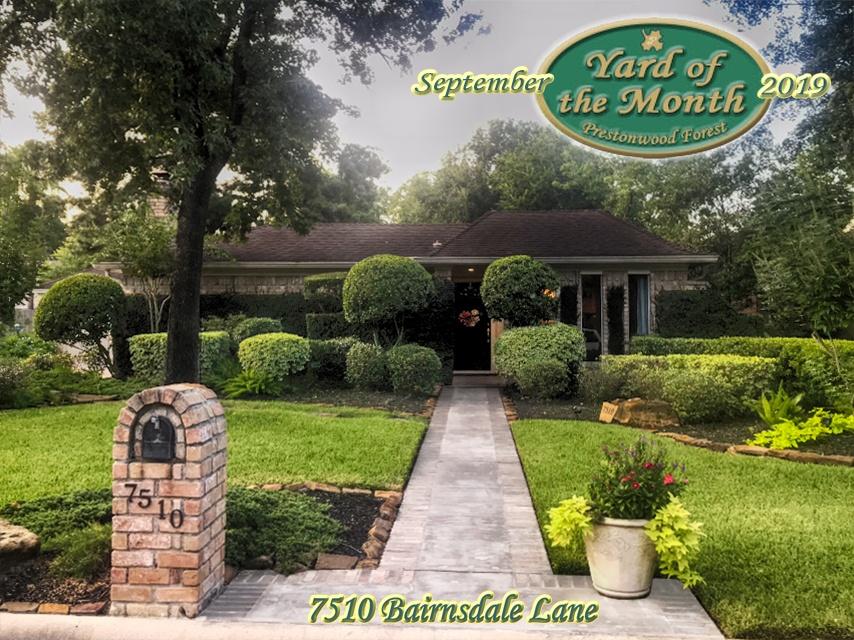 September 2019 Yard of the Month Winner