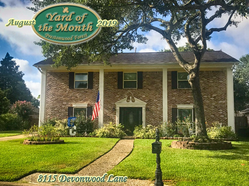 August 2019 Yard of the Month Winner