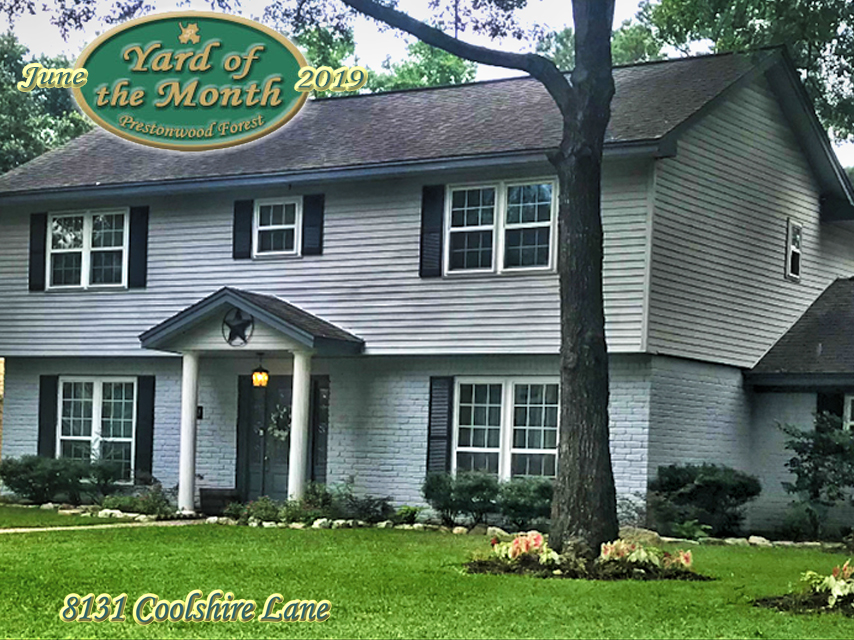 June 2019 Yard of the Month Winner