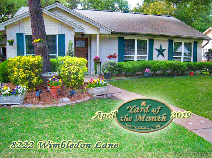 April 2019 Yard of the Month Winner