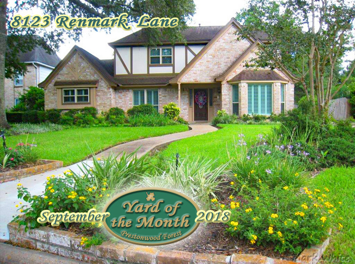 September 2018 Yard of the Month Winner