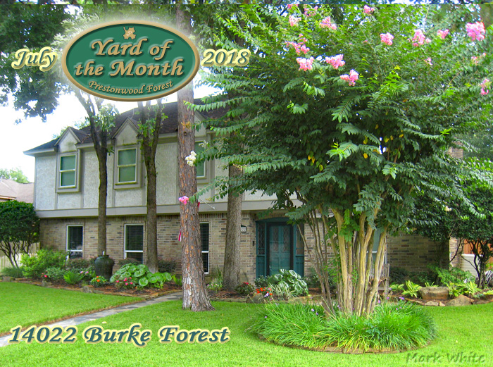 July 2018 Yard of the Month Winner