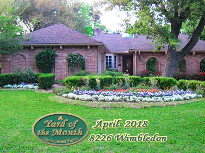 April 2018 Yard of the Month Winner