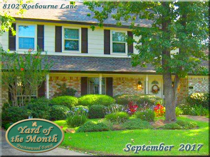 September 2017 Yard of the Month Winner