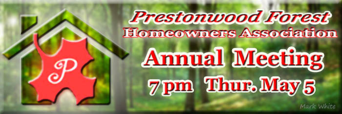 2016 Homeowners Association Annual Meeting May 5th 7pm