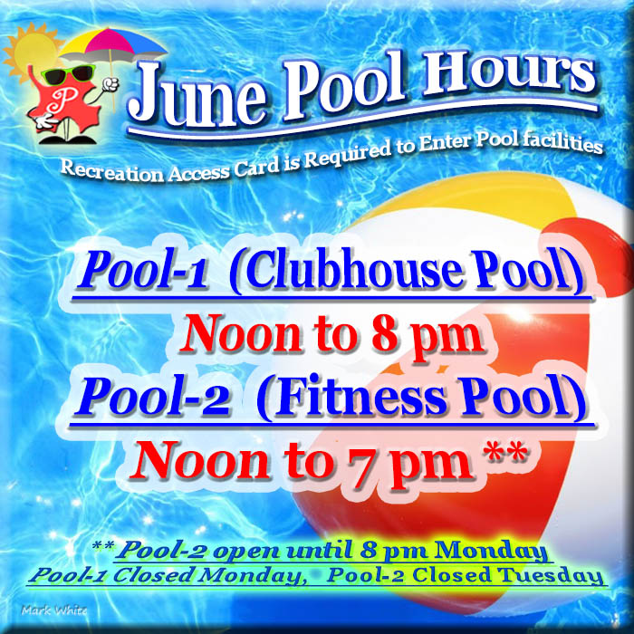 June 2017 Swimming Pool Hours