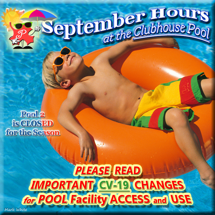 September 2020 Pool Hours
