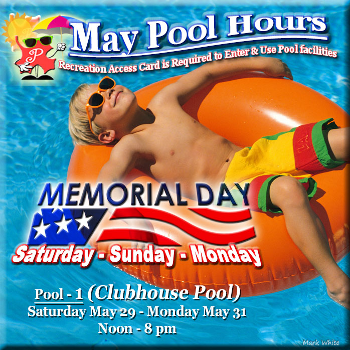 May 2021 Swimming Pool Hours