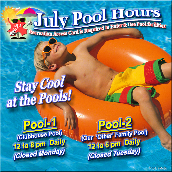 July 2021 Swimming Pool Hours