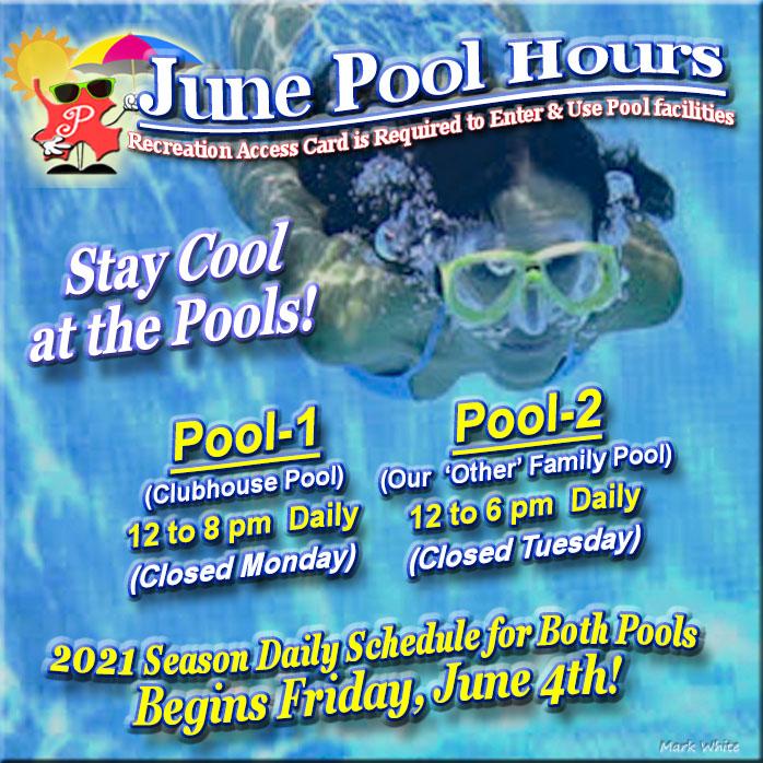 June 2021 Swimming Pool Hours