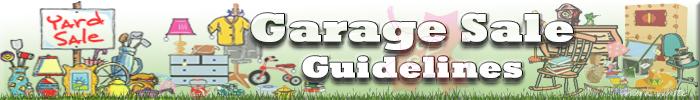 Garage Sale Guidelines graphic