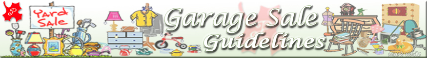 Garage Sale Guidelines graphic