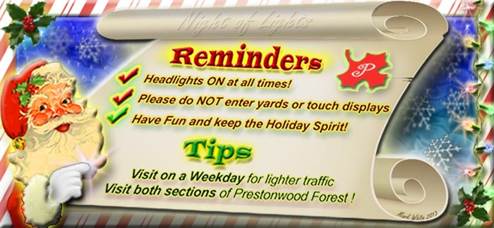 Night of Lights Reminders and Tips