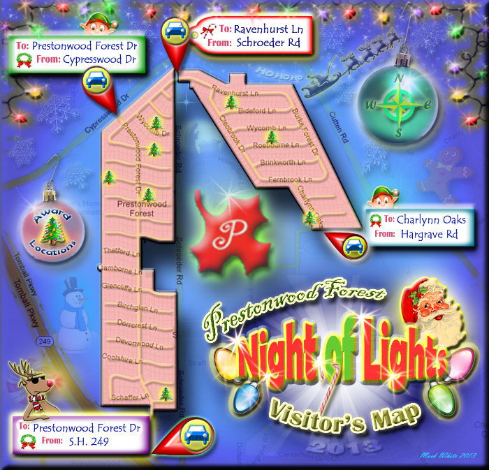 Prestonwood Forest Street Map for Nite of Lites 2013
