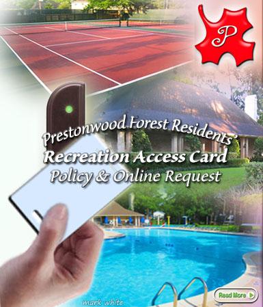 Online Recreation Access Card Information